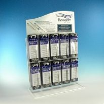 Half price refill display stand stocked with 60 x retail single packs